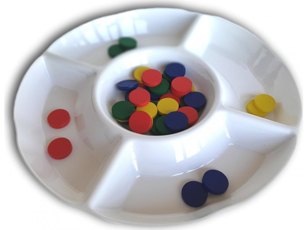 Třídící miska s žetony