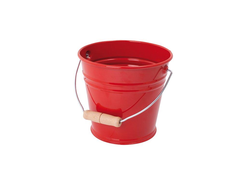 754 plechovy kyblik cerveny