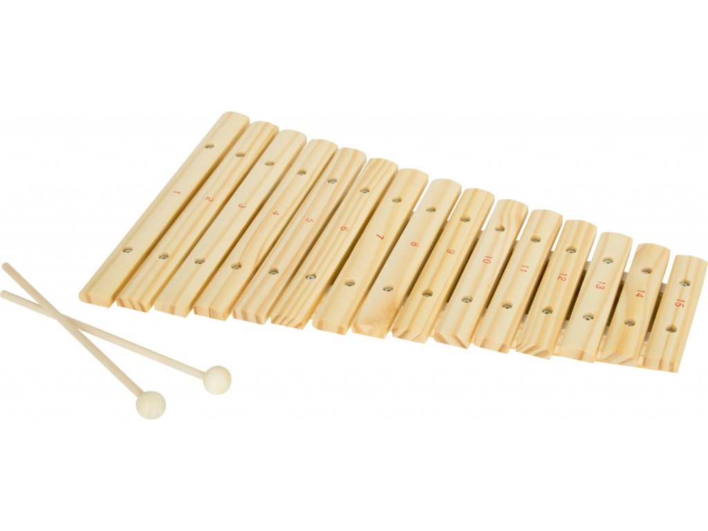 Xylofon 15 tónů přírodní