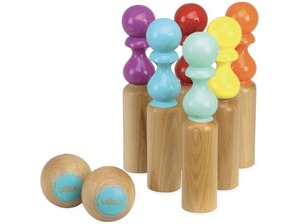 Dřevěný bowling RETRO