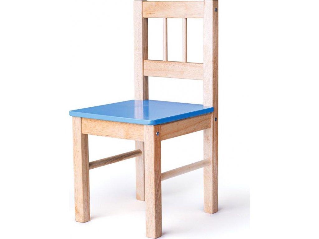 Dřevěná židle modrá