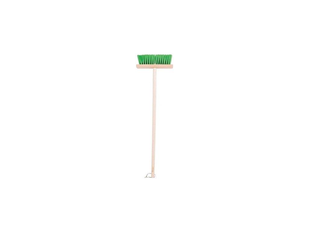 Zahradní metlička s dlouhou násadou zelená