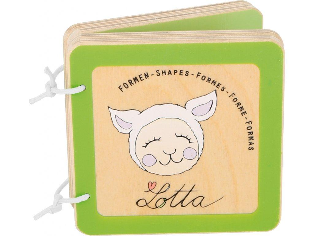 Dřevěná knížka Lotta - tvary