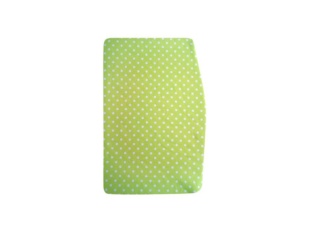 Podsedák zelený s puntíky