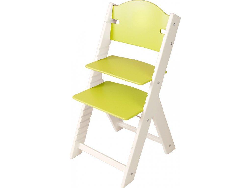 Dětská dřevěná rostoucí židle Sedees bílá – zelená