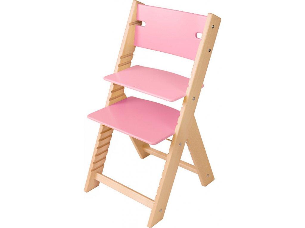 Rostoucí židle Sedees Line – růžová