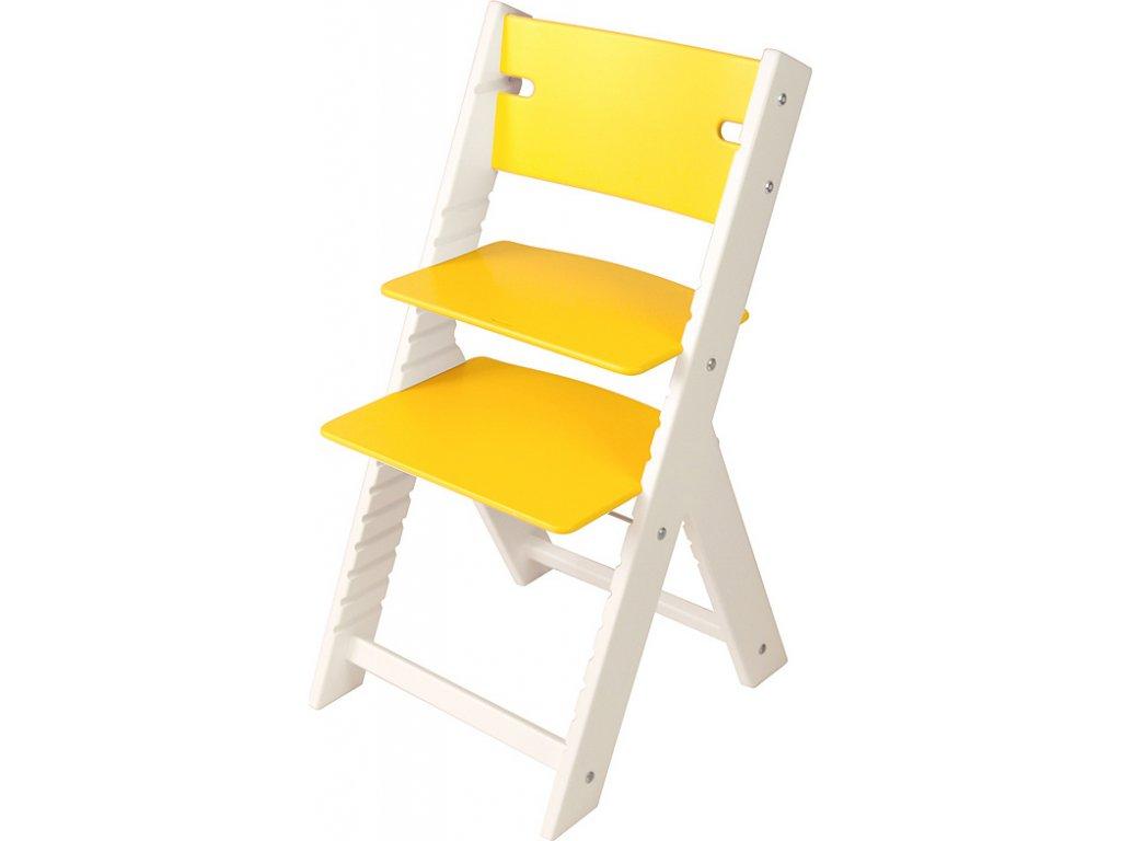 Rostoucí židle Sedees Line bílá – žlutá
