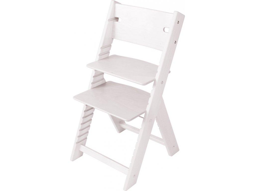 Rostoucí židle Sedees Line mořená - bílá