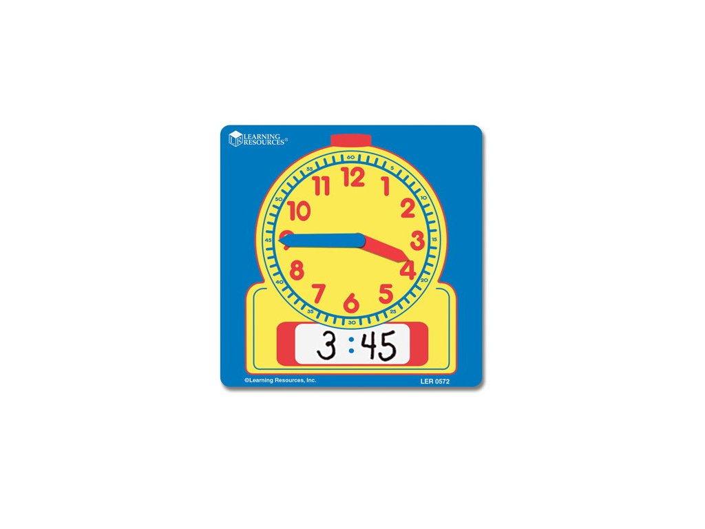 Školní hodiny - popisovatelné - sada 10ks