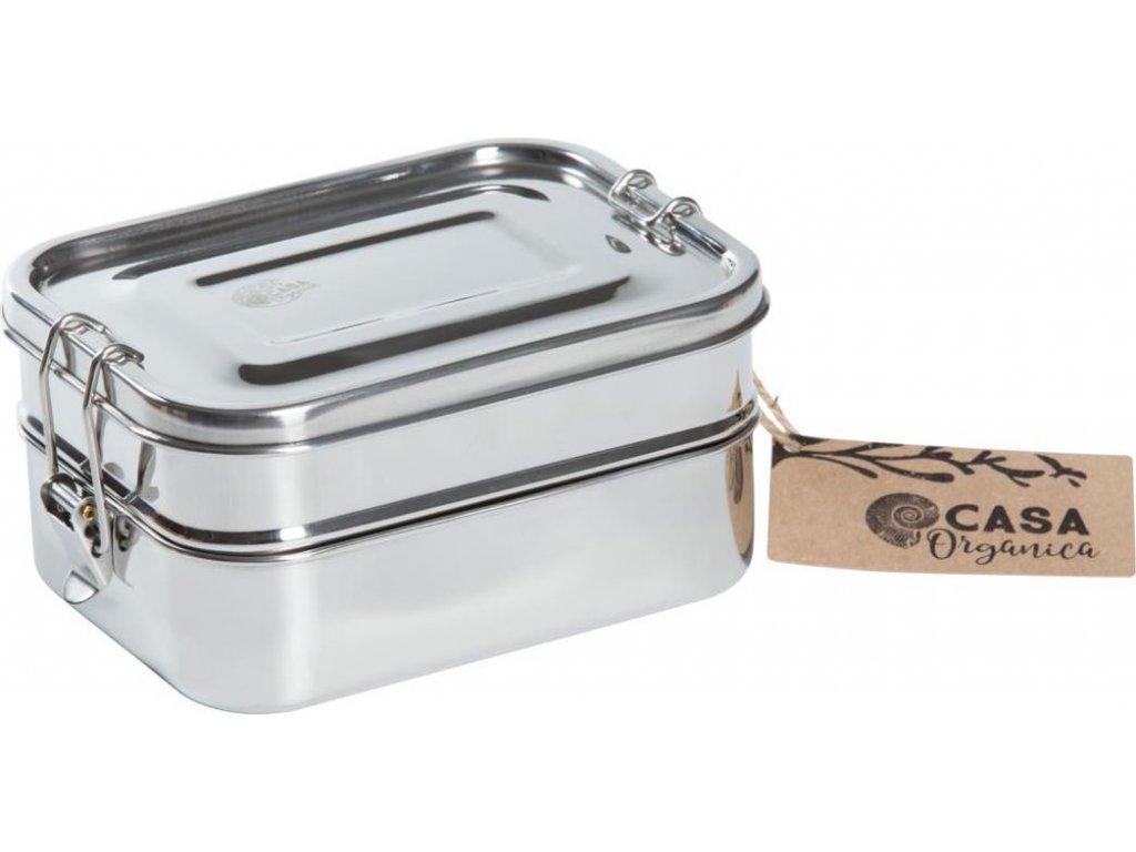 Set obědových dóz s těsněním – nerez (3 ks)