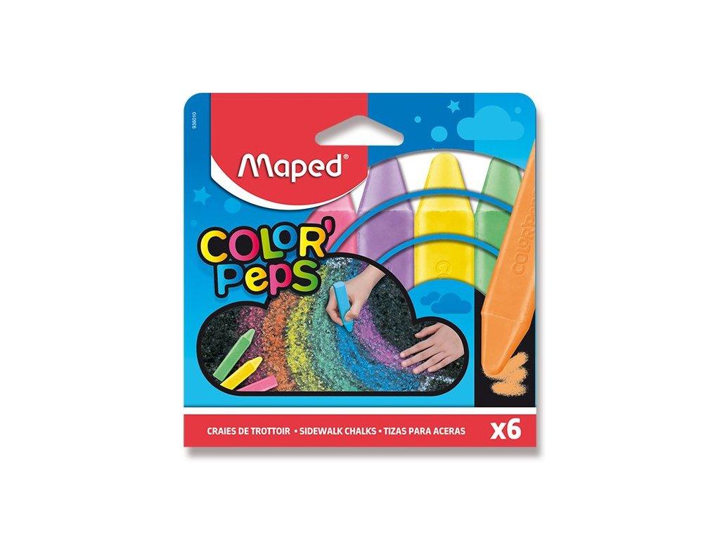 Křídy na chodník Maped 6 barev 1
