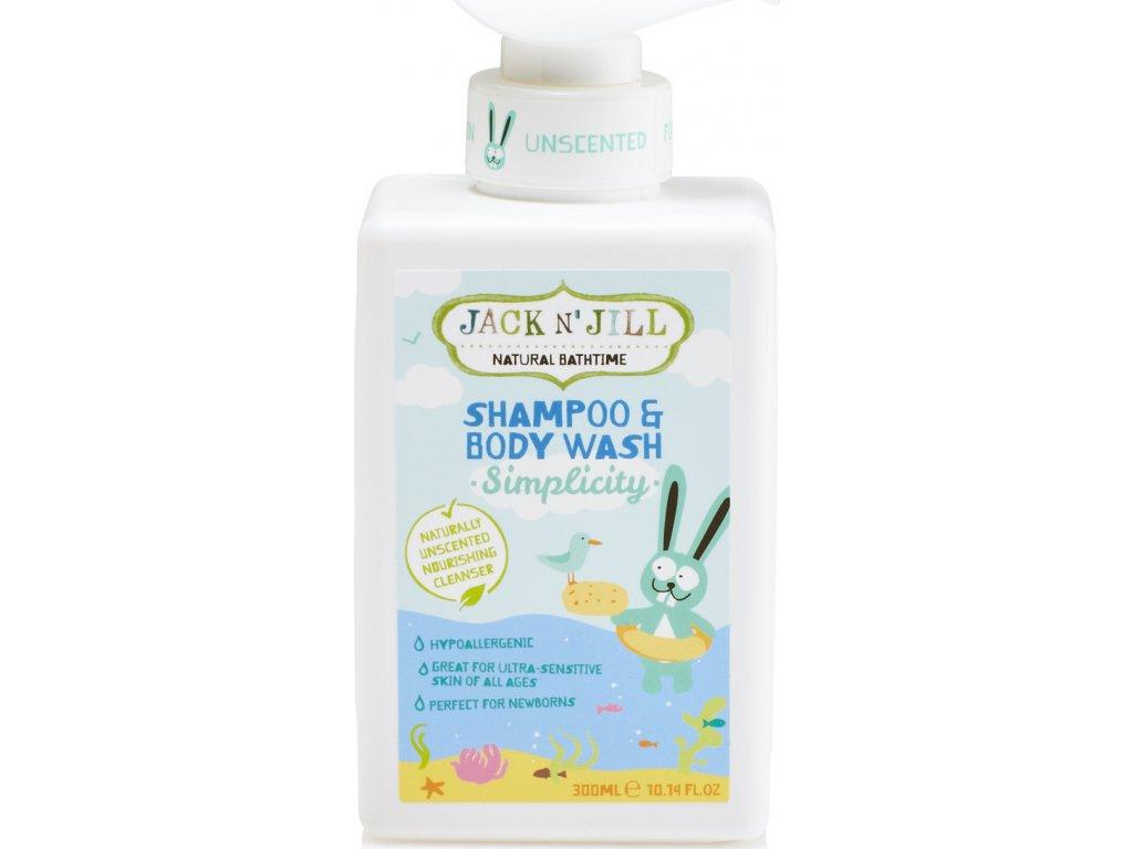 Jack N´ Jill NATURAL BATHTIME Simplicity Sprchový gel a šampon