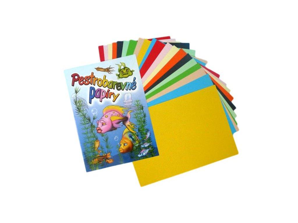 barevne papiry 20ks A4