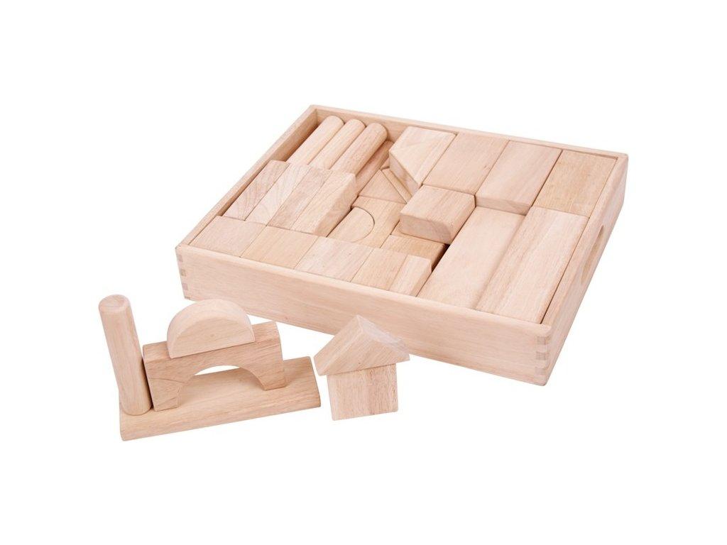 Velké dřevěné kostky přírodní