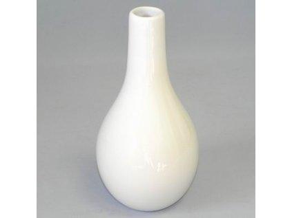 vaza keramika 13,5x13,5x26,5cm bila