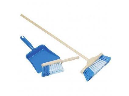 Smeták, smetáček a lopatka modrý