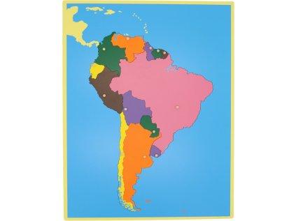 Puzzle - mapa Jižní Amerika - bez rámečku