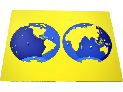 Puzzle - mapa oceánů - bez rámečku