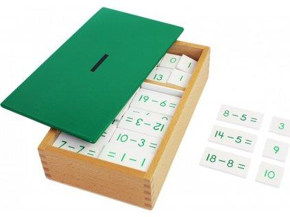 Odčítací krabička - příklady a výsledky