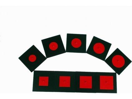 Vepsané a soustředné kovové tvary