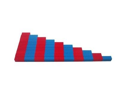 Červeno-modré tyče - zmenšená verze