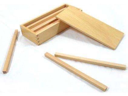 Hranoly v krabici (pro hnědé schody)