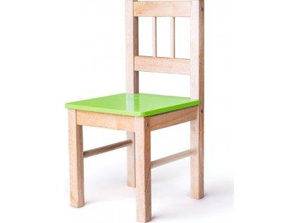 dřevěná židle zelená