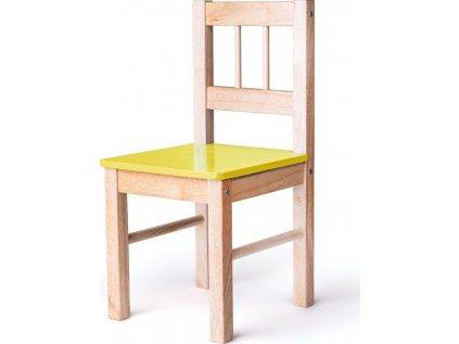 Dřevěná židle žlutá