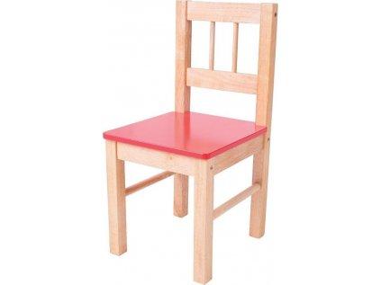 Dřevěná židle červená