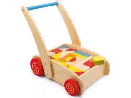 Walker dřevěné kostky ve vozíku