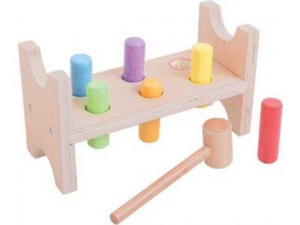 Dřevěná zatloukačka Bigjigs Toys