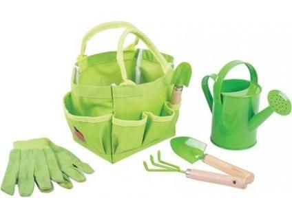 Zahradní set nářadí v plátěné tašce zelený