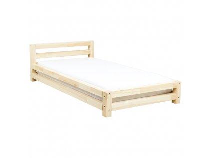 Nízká postel Modern přírodní dekor