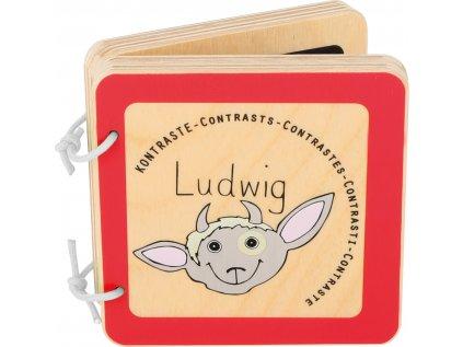 Dřevěná knížka Ludwig - kontrasty