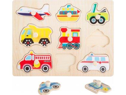 Small Foot Dřevěné puzzle vozidla