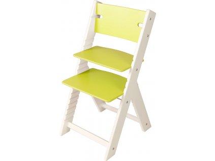 Rostoucí židle Sedees Line bílá – zelená