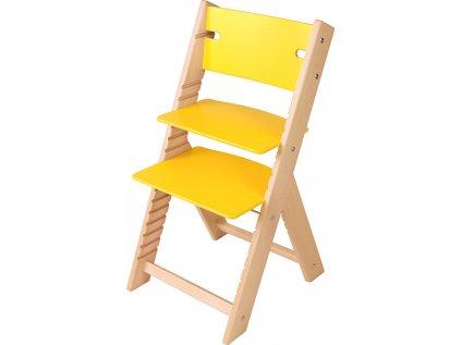 Rostoucí židle Sedees Line – žlutá