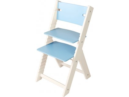 Rostoucí židle Sedees Line bílá – modrá