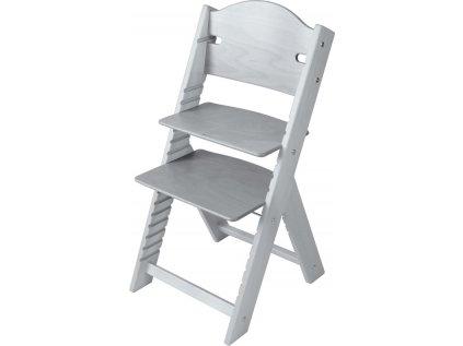 Dětská dřevěná rostoucí židle Sedees mořená – šedá