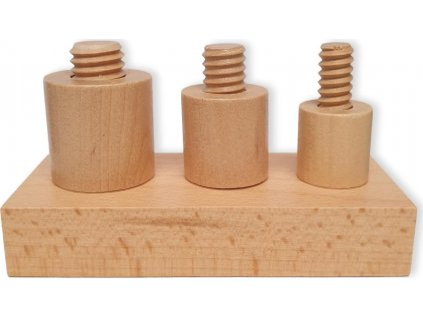 Dřevěné šrouby a matky