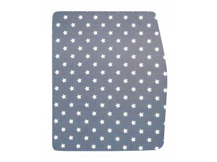 Podsedák modrošedý s hvězdičkami na chytrou židli Sedees - VELKÝ