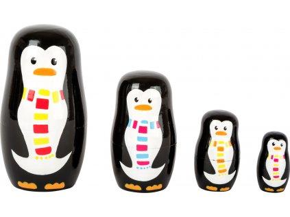 Small Foot Matrjoška rodina tučňáků