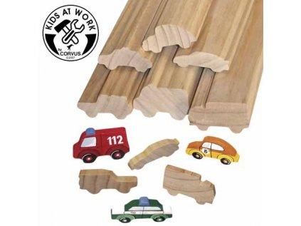 Dřevěné profily - Auta