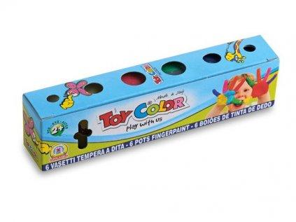 Prstové barvy Toy Color 6 barev, 25 ml 1