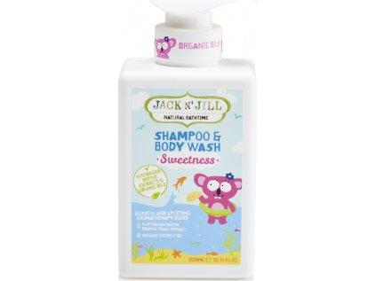 Jack N´ Jill NATURAL BATHTIME Sweetness Sprchový gel a šampon