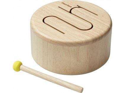Dřevěný bubínek - přírodní