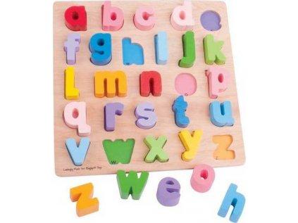 Bigjigs Baby Dřevěné puzzle Abeceda malá písmena (poškozený obal)
