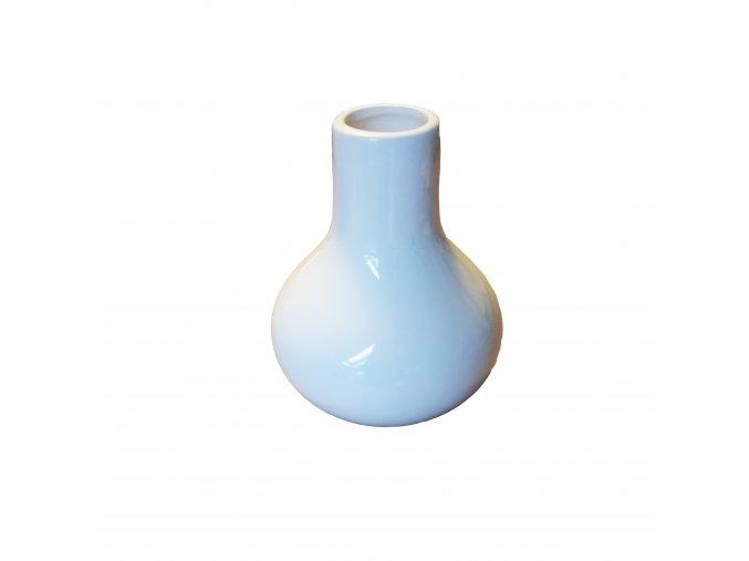 vaza keramika pr.4 10,5x12,5 bila