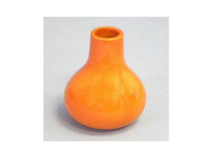vaza keramika pr 7 6v9cm oranz