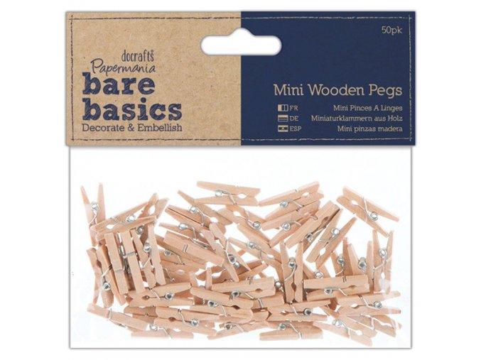 Dřevěné mini kolíčky 50ks
